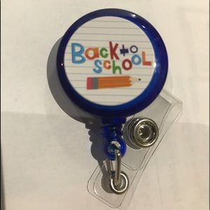 Back to school badge reel